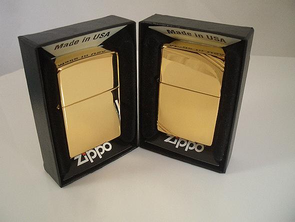 gold zippo