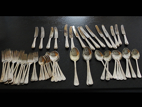 Cutlery Before Silver Plating