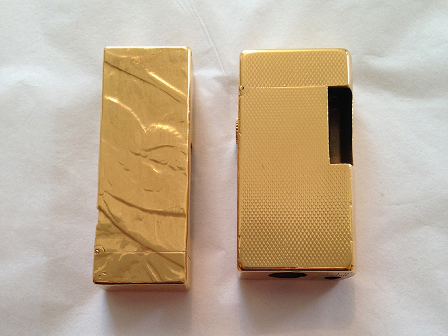 24ct Gold Plating On Dunhill Lighters