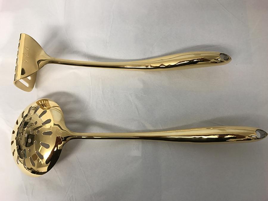 24ct Gold Plating On Kitchen Utensils
