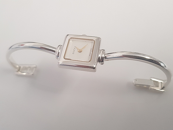 Silver Plated Gucci Watch